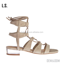 Nude gladiator sandals for women low clear lucite heel ankle sandals perspex branded dressy sandals summer footwear ladies