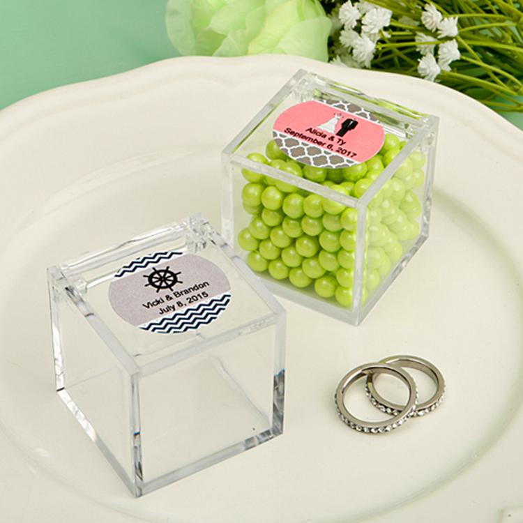 Custom Handmade Clear Small Acrylic Box Plexiglass Mini Candy Box