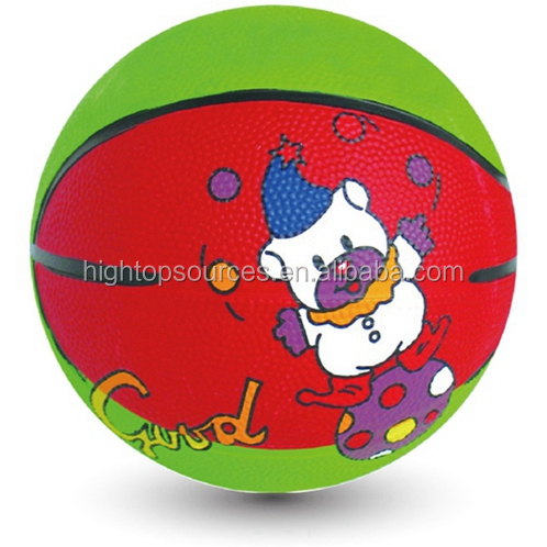 mini rubber basketball cheap basketball for promotion rubber game toys