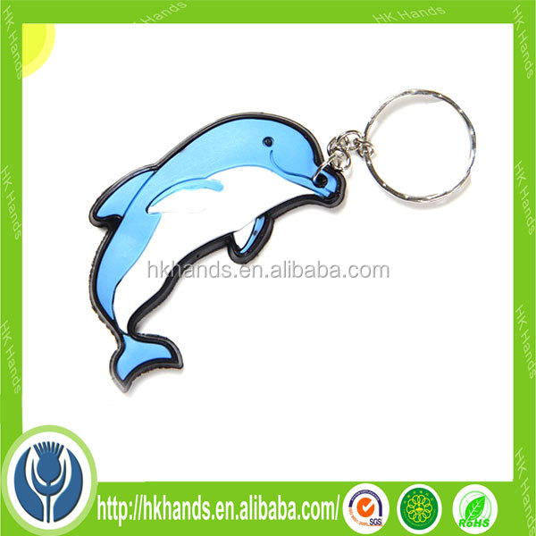 cartoon dolphin pvc anime keychain