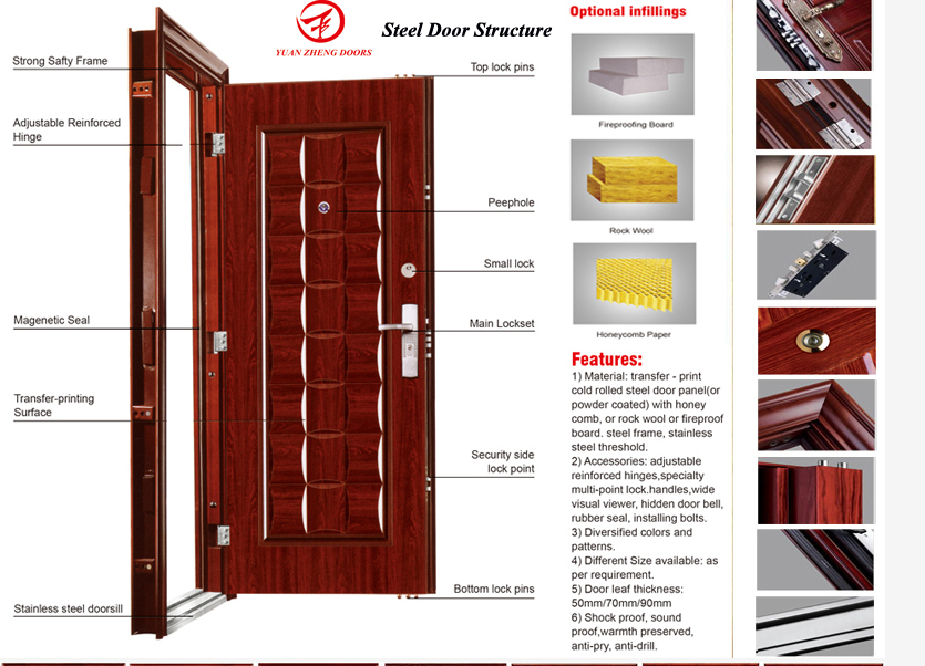 Mian wooden color designs door entry stainless steel doors in china mian wooden color designs door entry stainless steel doors in china making eventshaper