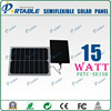 15w light weight portable sticky solar charger for mobile phone/tablet/music player/battery with dual voltage controller