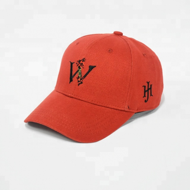 Embroidered Floral Letter <strong>W</strong> Logo Stocking Baseball Caps Hats Guangzhou