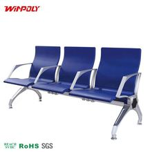 3 seats metal passenger lobby waiting room chair / airport seating
