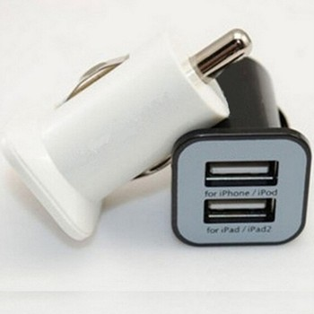 Universal 5v 2.1a output dual usb port car charger for iphone 6 7