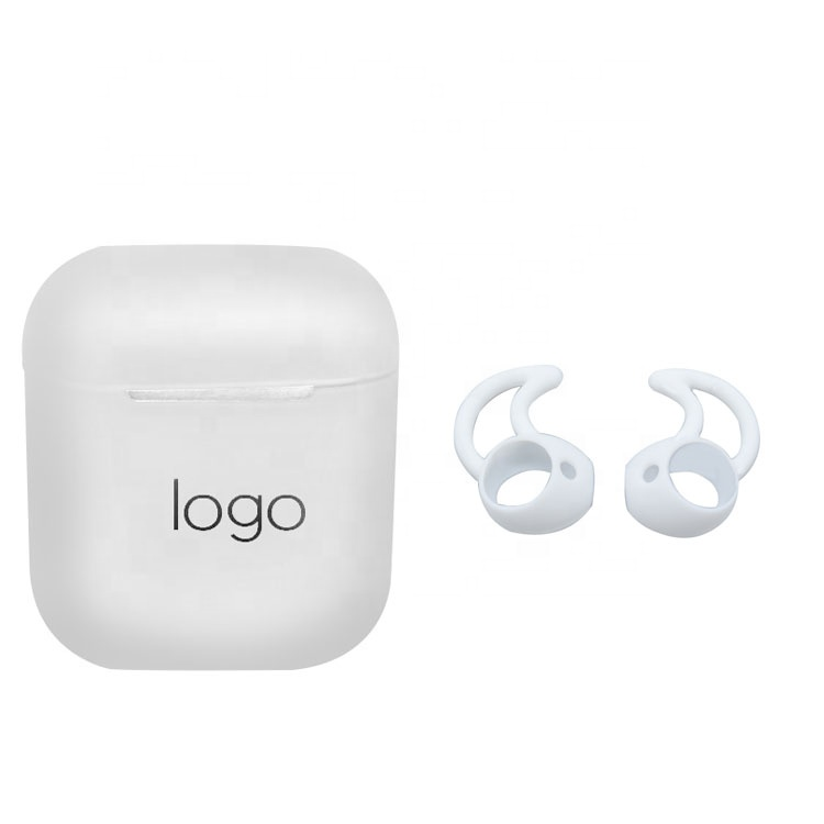 A set of earphone silicone <strong>accessories</strong> shockproof portable protective silicone skin cover case for earphone white