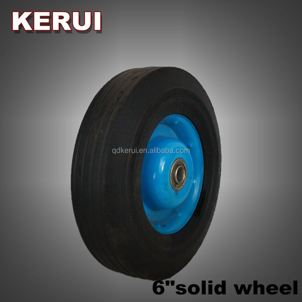 6 inch solid rubber tire