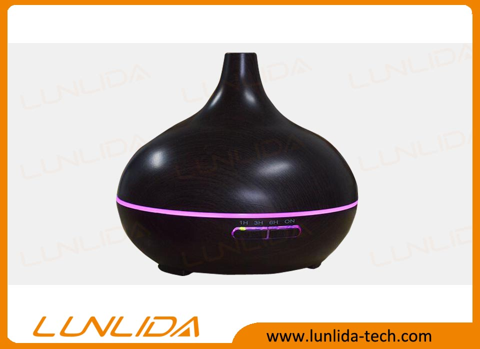 Ultrasonic aroma diffuser with colorful lights for ultrasonic essential oil 300ml capacity