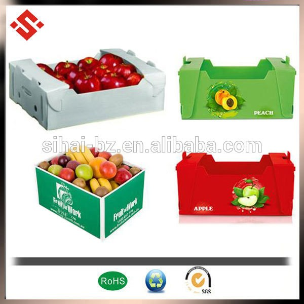 Customize Rigid Big Folding PP Corrugated Plastic Boxes For Agriculture Packing