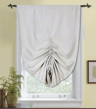 100% polyester beige pull up blackout curtains/shades design