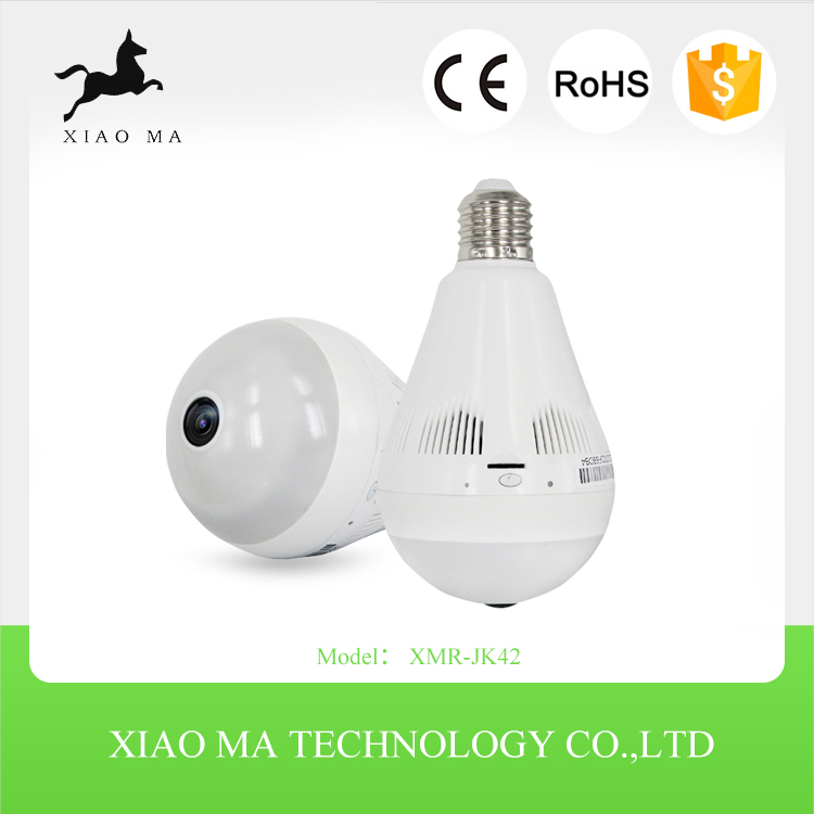 1080P Light bulb cctv camera system home security hidden camera with 128g Memory Card XMR-JK42