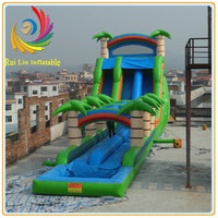 Water park inflatable children outdoor slide with swing