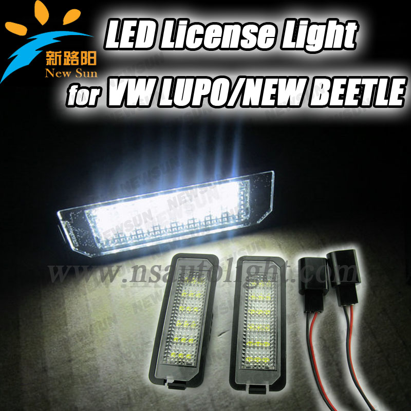 Super bright led license light for vw,xenon white 18smd led license plate lamp for vw lupo/new beetle