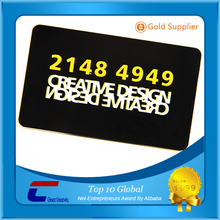 Hot-stamping Black Visa Card Custom Matte cards