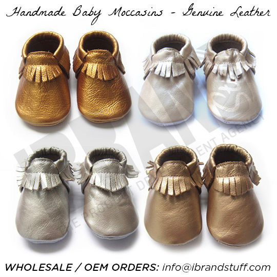 genuine cow leather baby moccasins freshly picked, baby moccasins, custom OEM fashion 2014 fp style