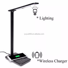 Dimmable Led Light Lamp Qi Wireless Charger Led Desk Lamp With Usb Port