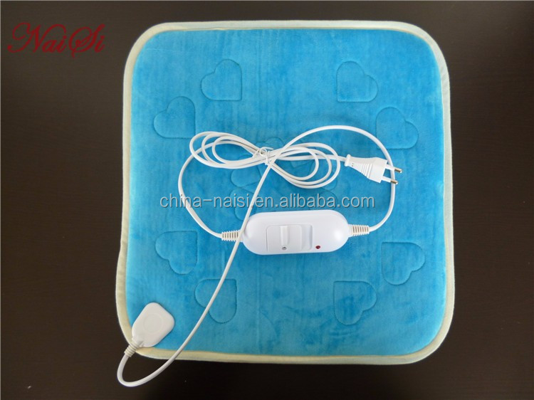 Comfortable soft Solar heating pad with many types controller and embroidery your logo