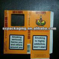Cigarette Packaging Box Paper Color For