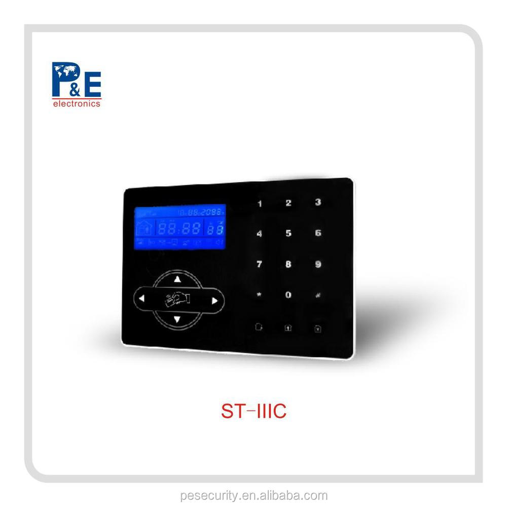 Wireless GSM SMS Intercom/Monitor Security Home Alarm System + Touch Keypad LCD screen black