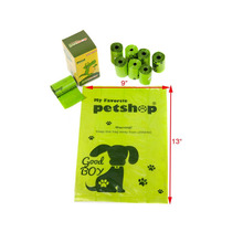 lavender scented leak-proof Green Color Dog Waste Pet Poop Bags