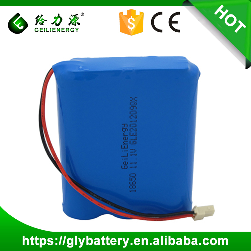 Wholesale Price 18650 Rechargeable Li-ion Battery Pack 11.1V 2000mah