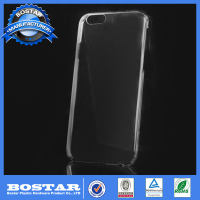 100% fitting Hot selling&high quality slim pc hard plastic mobile clear tpu case for iPhone 6 free sample