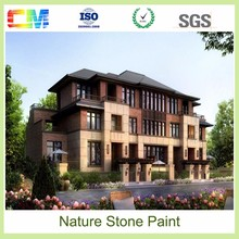 Texture wall coating for natural stone building exterior house paint colors