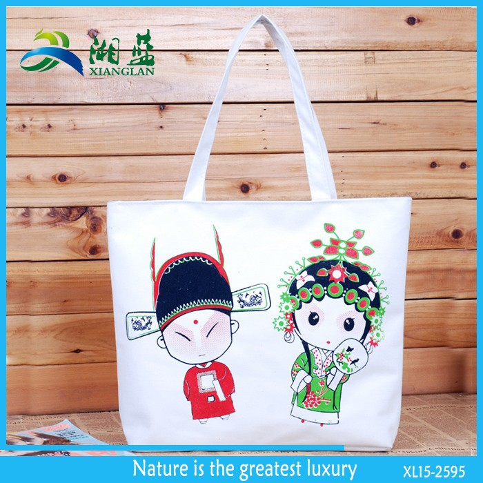new products supplier heat transfer printing canvas bag for shopping