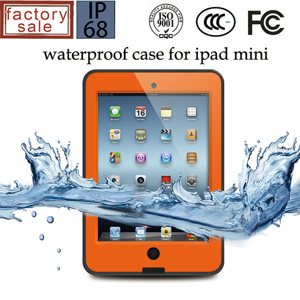 For iPad Mini Waterproof Case, High Quality Hard Plastic Waterprof Case for iPad