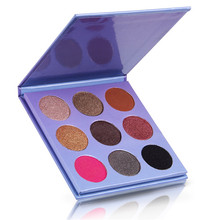 Wholesale private label cosmetics make up 9 color eyeshadow palette