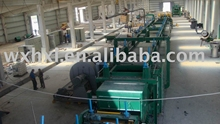 Slag wool production line