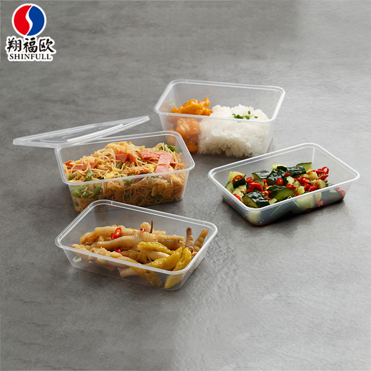 OEM Welcome disposable rectangular food container plastic restaurant,food packaging lunch box