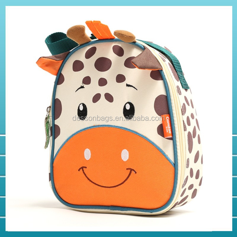 Hot sale Promotional animal insulated kids lunch bag with your brand logo