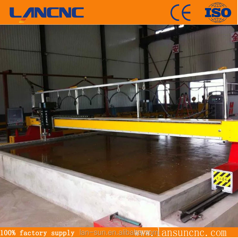 High efficiency Heavy duty ms mild steel metal plate profile gantry CNC Plasma Flame double head cutting machine