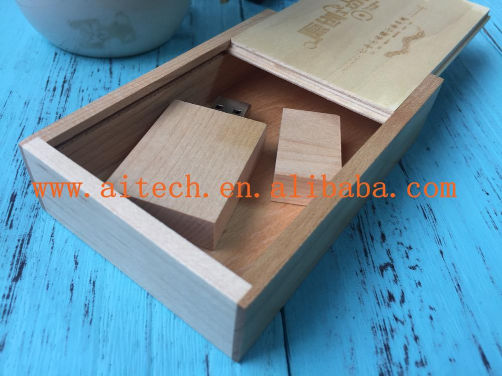 Wooden PHOTO&USB Box Wedding Photography Packaging Boxes