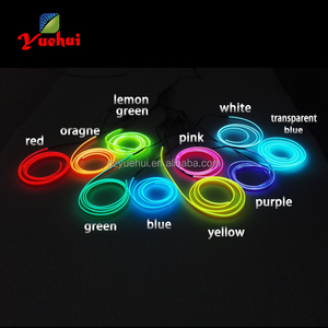 2017 New 2.3mm-skirt EL Wire Flexible Neon Light Rope 10 Color Choice Not Include EL Driver For Car Internal Party Decoration
