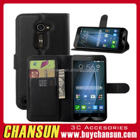 Wholesale China Leather smart phone case for asus zenfone 2 ze551ml