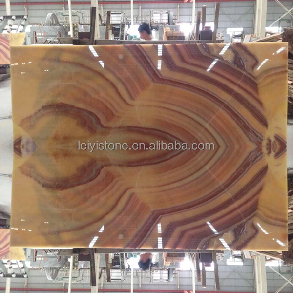 China suppliers yellow red dragon onyx stone for hot sale
