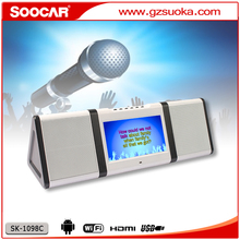 Outdoor Entertainment Portable Karaoke machine with DVD USB GAME SD Card Reader.home and outdoor live songs karaoke portable