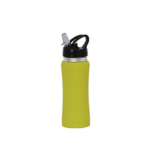 Mini stainless steel water 350 ml bottle for kids , vacuum flask with plastic straw