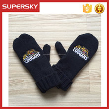 C83 Knitted Mittens With Custom Embroidered Logo Chunky Knit Mittens Gloves Fleece Lined