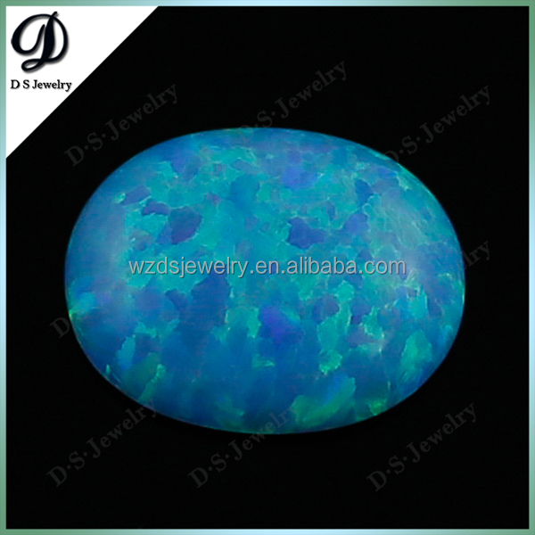 Wholesale Lab Created Opal / Oval Opal Cabochon / Blue Fire Opal For Sale