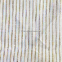 2016 New Stripe Fashion Yarn Dyed 100% Linen Fabric For Clothing