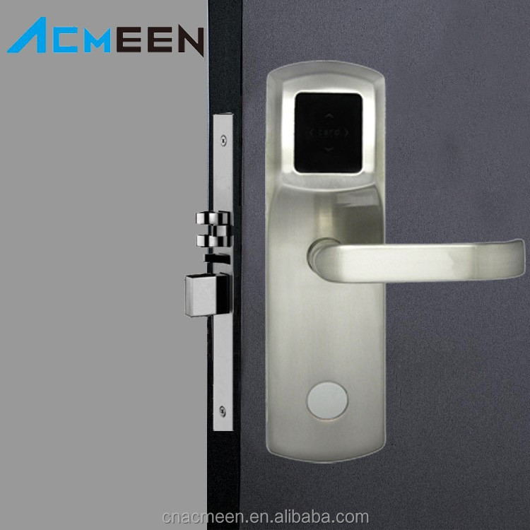 Smart Electronic Door Lock Cylinder RF Card Hotel Key Lock Systems