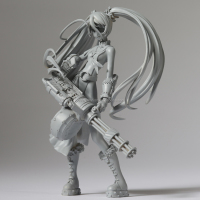custom wholesale Blade And Soul game character unpainted resin polyresin figurines