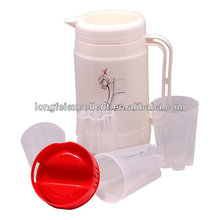 New product plastic thermos water jug with 4 cups