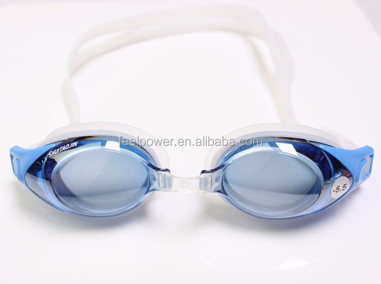 Excellent Quality Easy Carry Waterproof Swimming Glasses with Push Button Adjustable