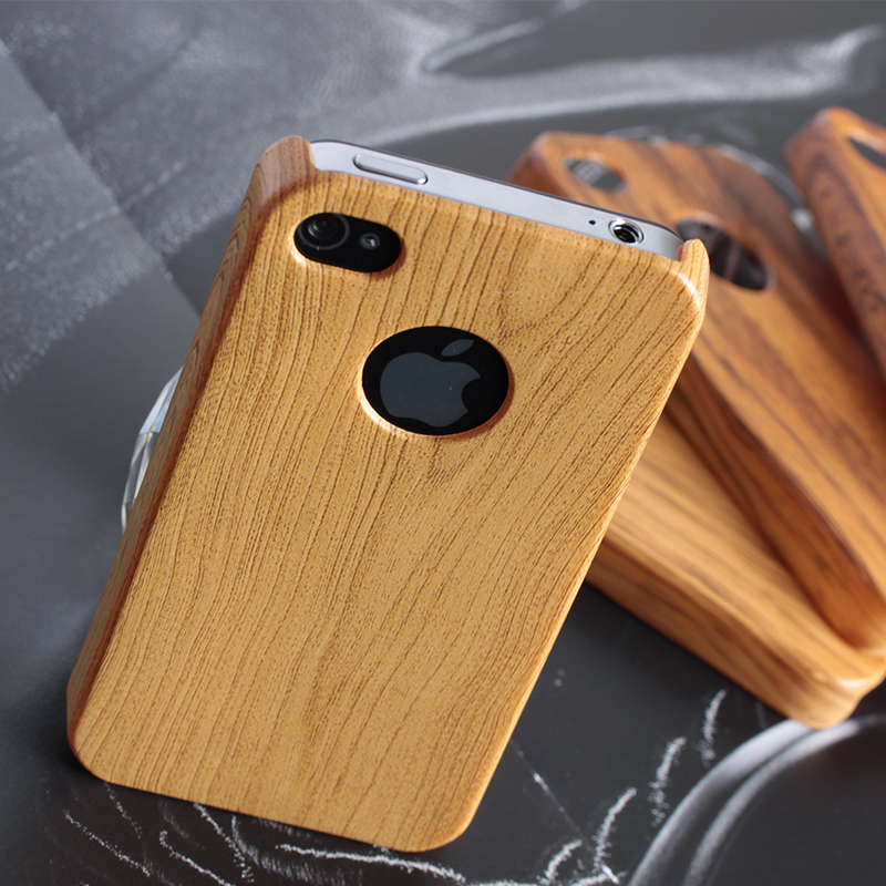 Zebra pattern Real wood factory eco friendly detachable wooden cell phone case for iphone4/5/6/6plus CO-WOD-2011