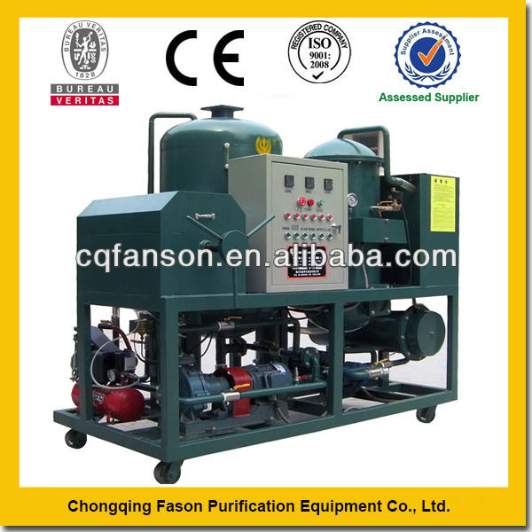 Transformer oil filtration plant removing water completely