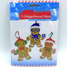 3pk Christmas Gingerbread Men EVA Foam Craft Kit